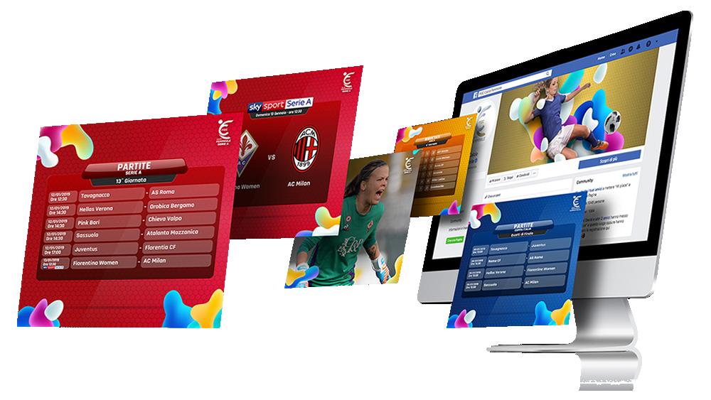 Social content per FIGC Divisione Femminile Calcio